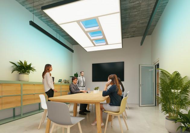 【新闻图片】昕诺飞NatureConnect照明解决方案,将自然光引入室内